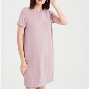American Eagle Mauve Pocket T-Shirt Dress Sz Small